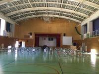 前期終業式 体育館